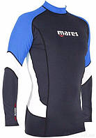 Мужская лайкровая футболка для плавания с уф защитой Mares Rash Guard (Trilastic); длинный рукав