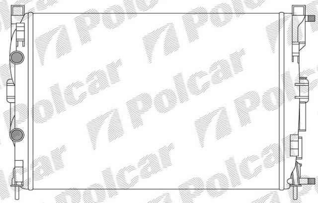 Радиатор охлаждения 6012081X(8200116110), Рено Меган MEGANE II, 02-