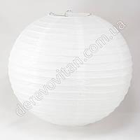 Бумажный подвесной фонарик белый, 50 см