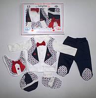 """Подарочный набор"""" Джентельмен """" для новорожденных 5 предметов. Размер 0-3 мес."""