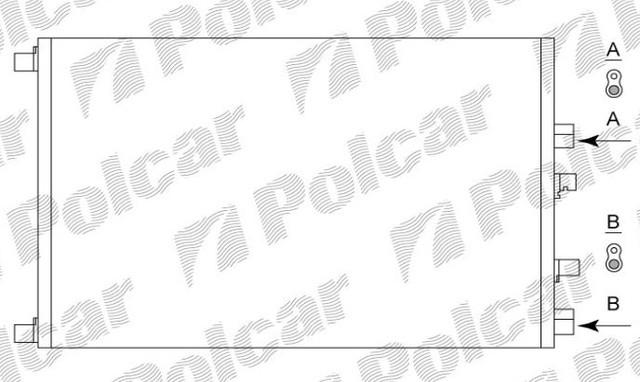 Радиатор охлаждения 6012082X(8200115542), Рено Меган SCENIC II, 03-, MEGANE II, 02-