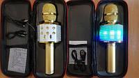 КАРАОКЕ Микрофон K51 в ЧЕХЛЕ беспроводный BLUETOOTH с USB и Цветомузыкой