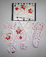"""Подарочный набор """" Пчелка """" для новорожденных 5 предметов. Размер 0-3 мес."""