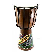 Барабан джембе расписной дерево с кожей (40х19х19 см)
