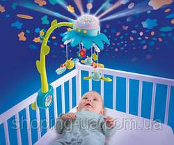 Музыкальный мобиль Цветочек голубой Cotoons Smoby 110110, фото 2