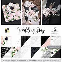 Набір двостороннього паперу - DCWV - Wedding Day - WGold Foil - 36л. -  30х30 ЦІНА ЗА ПІВ НАБОРУ!