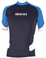 Мужская футболка для водных видов спорта Mares Rash Guard (Trilastic); короткий рукав