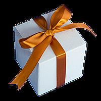 Коробка для чашки с ленточкой (бронзовая)