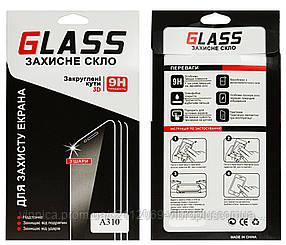 Защитное стекло для Samsung A310 Galaxy A3 (2016) (0.2 mm, 2.5D, с олеофобным покрытием)