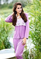 Красивая женская пижама с кружевом