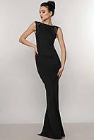 Вечернее платье в пол Венеция Ри Мари черный/букле