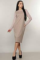 Трикотажное платье Шери цвет пудра-люрекс Ри Мари