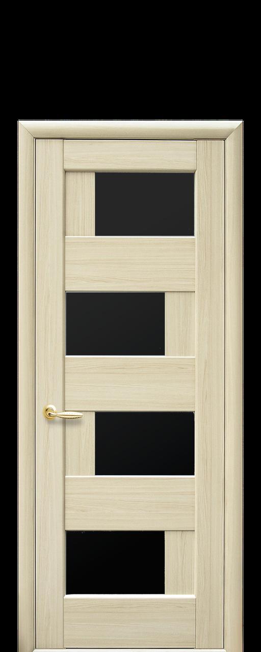 """Межкомнатные двери """"Сиена"""" с черным стеклом"""