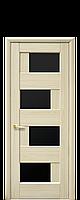 """Межкомнатные двери """"Сиена"""" с черным стеклом, фото 1"""