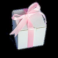 Коробка для чашки с ленточкой (розовая)