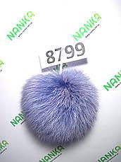 Меховой помпон Кролик, Сирень, 11 см, 8799, фото 2