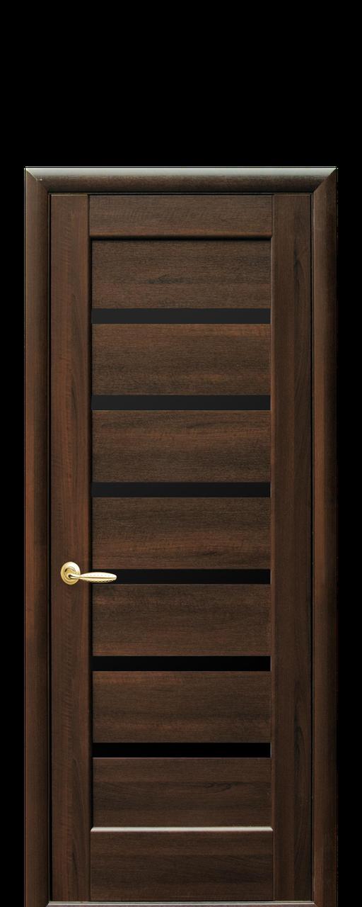 """Межкомнатные двери """"Линнея"""" с черным стеклом"""