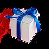 Коробка для чашки з стрічкою (синя)