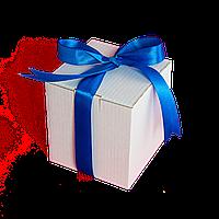 Коробка для чашки с ленточкой (синяя)