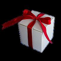 Коробка для чашки с ленточкой (бордовая)