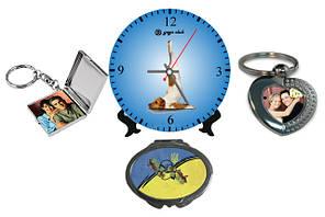 Печать на брелках, часах, зеркальцах, магнитных держателях и визитницах