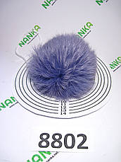 Меховой помпон Кролик, Сирень, 10 см, 8802, фото 3