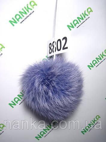 Меховой помпон Кролик, Сирень, 10 см, 8802, фото 2