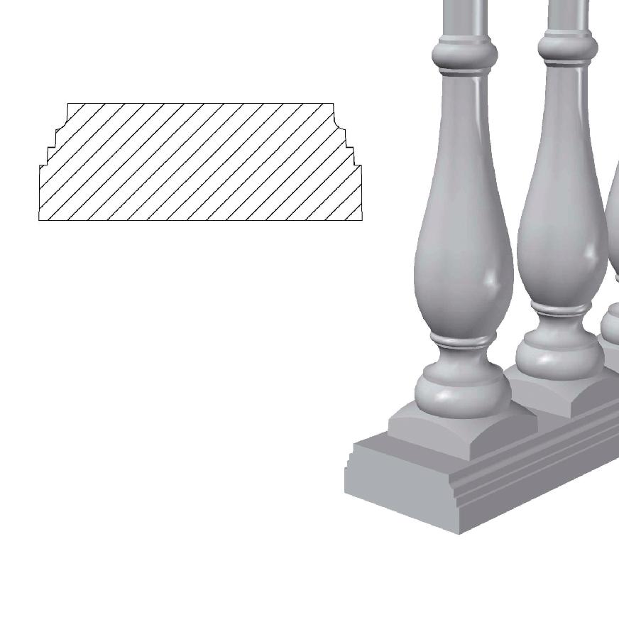 Основание балюстрады (Osn1.1) 1,62 п.м.