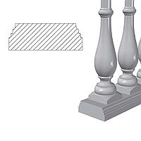 Основание балюстрады (Osn1.1) 1,62 п.м., фото 1