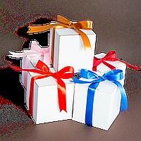Коробка для чашки с ленточкой в ассортименте