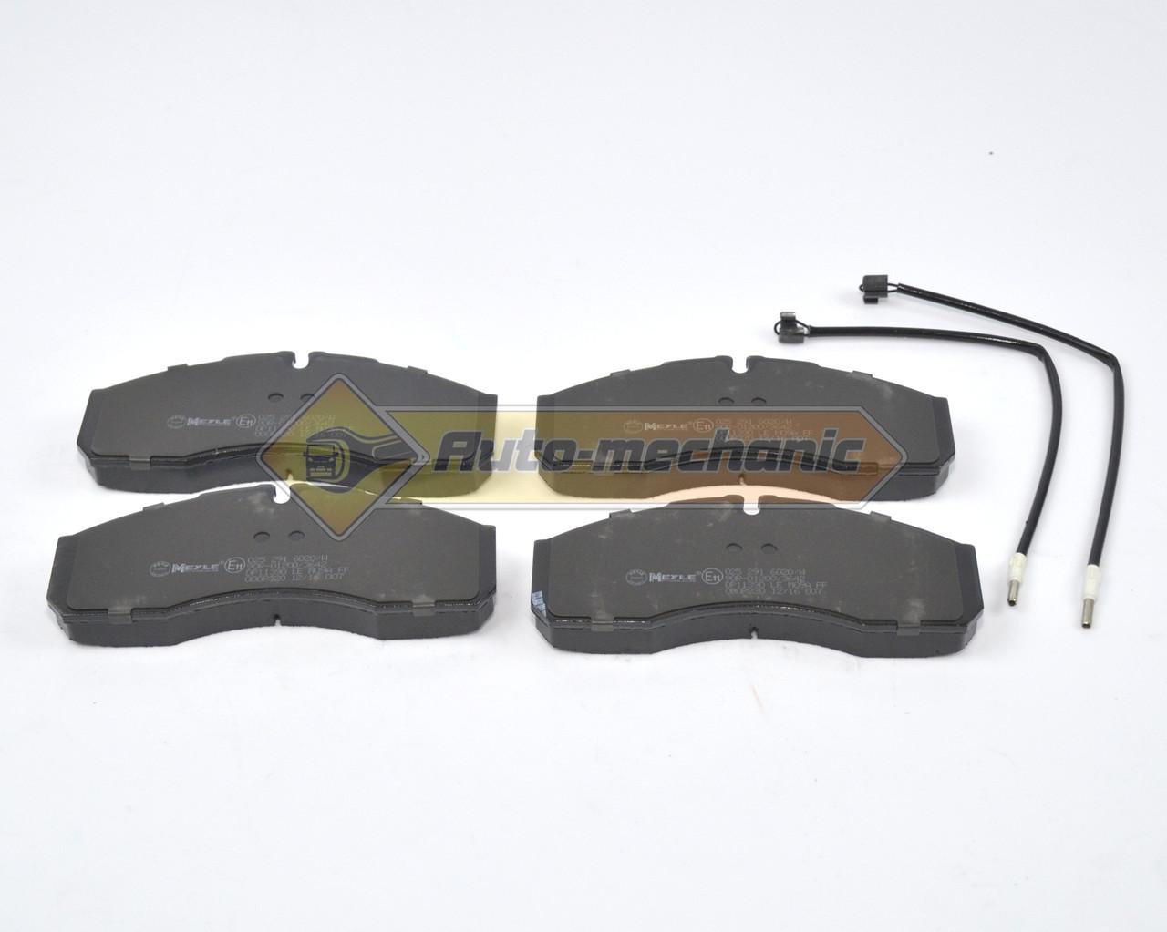 Дискові гальмівні колодки на Renault Mascott 99->2010 (місткість.5500кг->) - т колодок гальмівних передніх (Німеччина)- 0252916020W