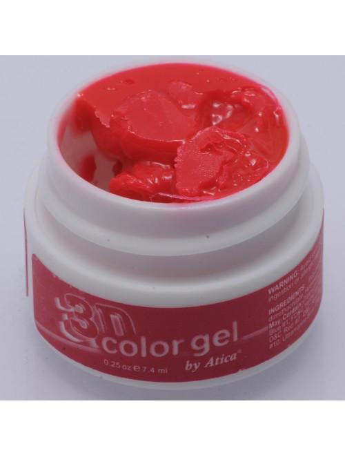 "3D гель Atica ""CARMINE RED"", 12 мл. №377"