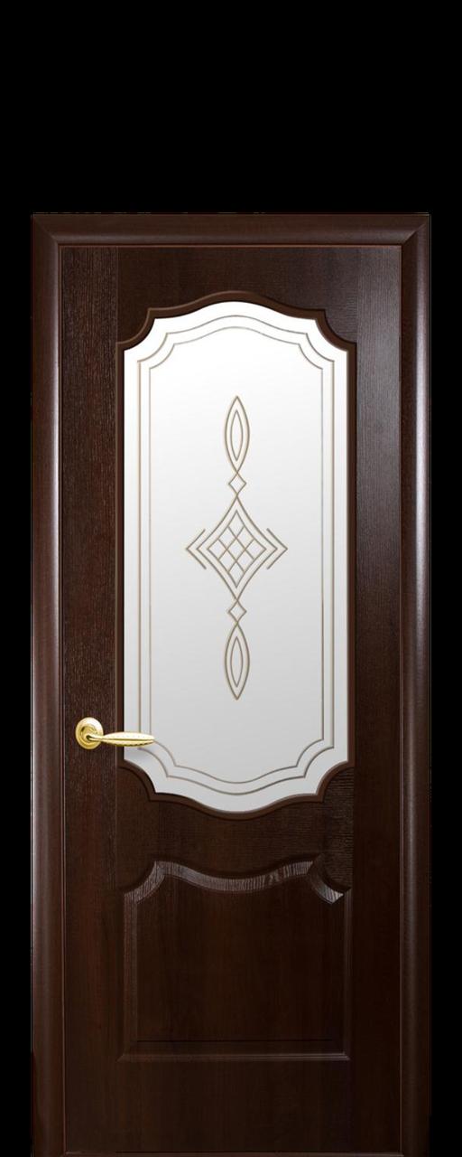 """Межкомнатные двери """"Вензель"""" со стеклом сатин и рисунком"""