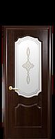 """Межкомнатные двери """"Вензель"""" со стеклом сатин и рисунком, фото 1"""