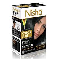 Без амиачная стойкая крем-краска для волос Nisha с маслом авокадо 1 - Черный