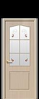 """Межкомнатные двери """"Классик"""" со стеклом сатин и цветным рисунком"""