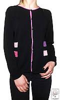 Кофта на пуговицах Alterna р. S 42 44 черная короткая женская весенняя демисезонная