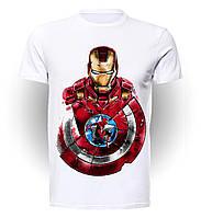Футболка мужская размер L GeekLand Железный Человек Iron Man with shield and spidey art IM.01.063