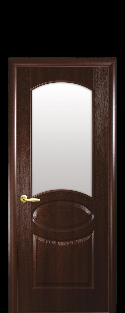 """Межкомнатные двери """"Овал"""" со стеклом сатин"""