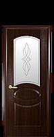 """Межкомнатные двери """"Овал"""" со стеклом сатин и рисунком, фото 1"""