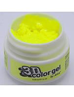 "3D гель Atica ""ELECTRIC YELLOW"", 12 мл №374"