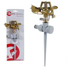 Дождеватель пульсирующий с полной/частичной зоной полива на костыле INTERTOOL GE-0052