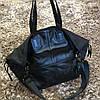 Женская большая спортивная сумка кожа текстиль