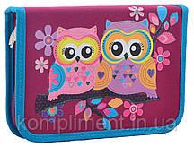Пенал твердый одинарный без клапана  Owl,  20.5*14*3.2