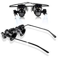 Увеличительные очки с подсветкой Бинокулярная лупа