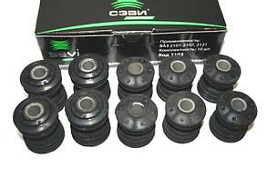 Втулка штанг реактивных резино-металлическая (сайлентблоки) 2101-07 СЭВИ Экстрим (к-т 10 шт.)