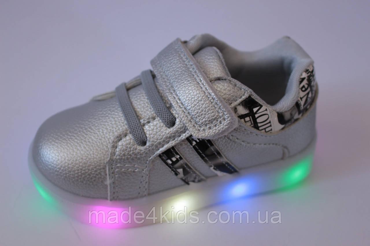 b80e4453 Детские кроссовки LED-подсветка на девочку ТМ Boyang (Том.м), р. 21 ...