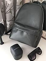 Матовый серый рюкзак из экокожи (35-25-10)
