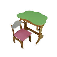 "Детский набор ""Дубок"" растишка стол+стул (розовый), фото 1"