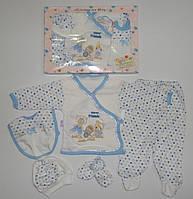 """Подарочный набор """" Мишка """" для новорожденных 5 предметов. Размер 0-3 мес."""